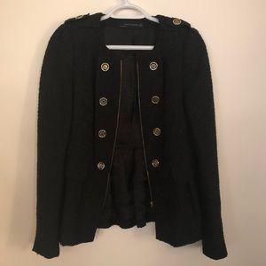 Zara Black Military-inspired Blazer